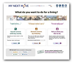 My Next Move screen shot